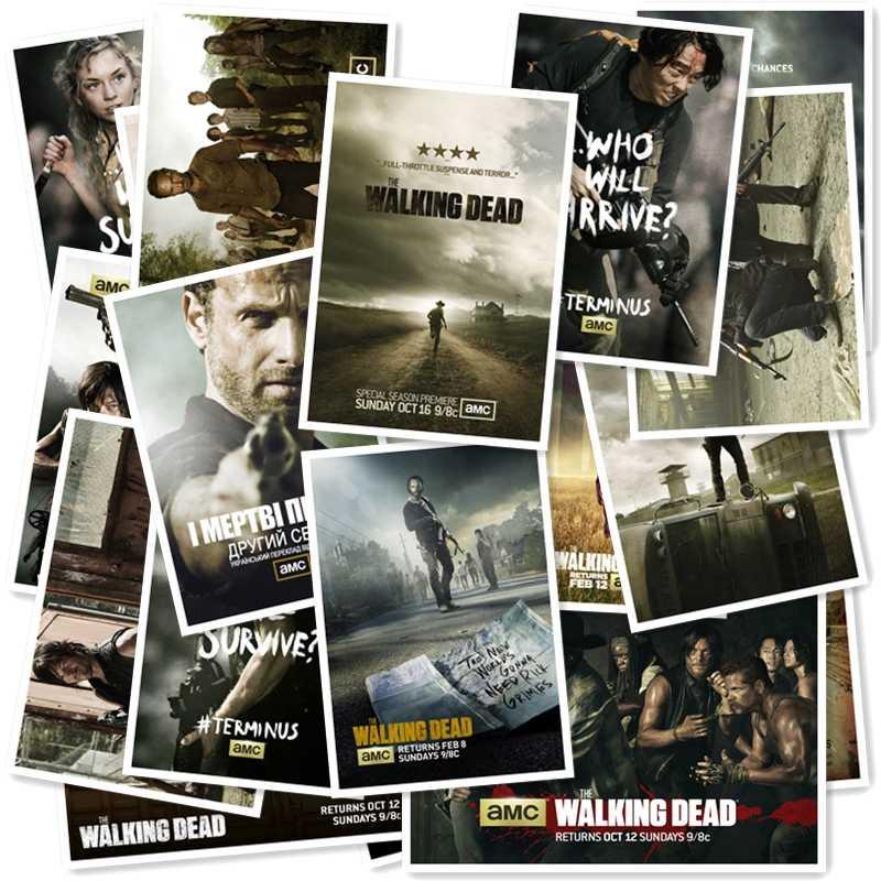 A1-23 # Walking Dead 20/pcs PVC Autocolante Home Decor Frigorífico Estilo Graffiti Estilo Mala de Viagem Adesivos de Parede