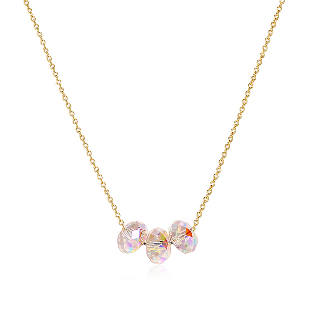 BAFFIN Colorful Oval Beads Fancy Stone Pendant Necklace Crystals From Swarovski For Women Gold Color Chain Trendy Indian Jewelry