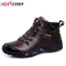 Outdoor Climbing Traveling Camping Snow Boots Winter Fur Warm Martin Shoes Comfort Wear Waterproof Ankle Boots Botas Men Boots