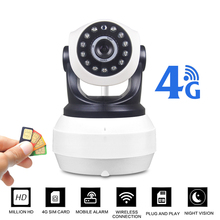 1080P 4G 3G SIM Mini IP Camera Wireless GSM P2P Industrial Cam PTZ Pan Tilt Video Camera CCTV Home Security 128G SD Card Slot sapsan rm 01 пульт постановки снятия к gsm pro 2 5 6 3g cam