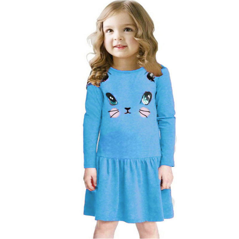 Autumn Kids Babys Gils Christmas Party Xmas Long Sleeve Swing Party Dress 1-6Y ...