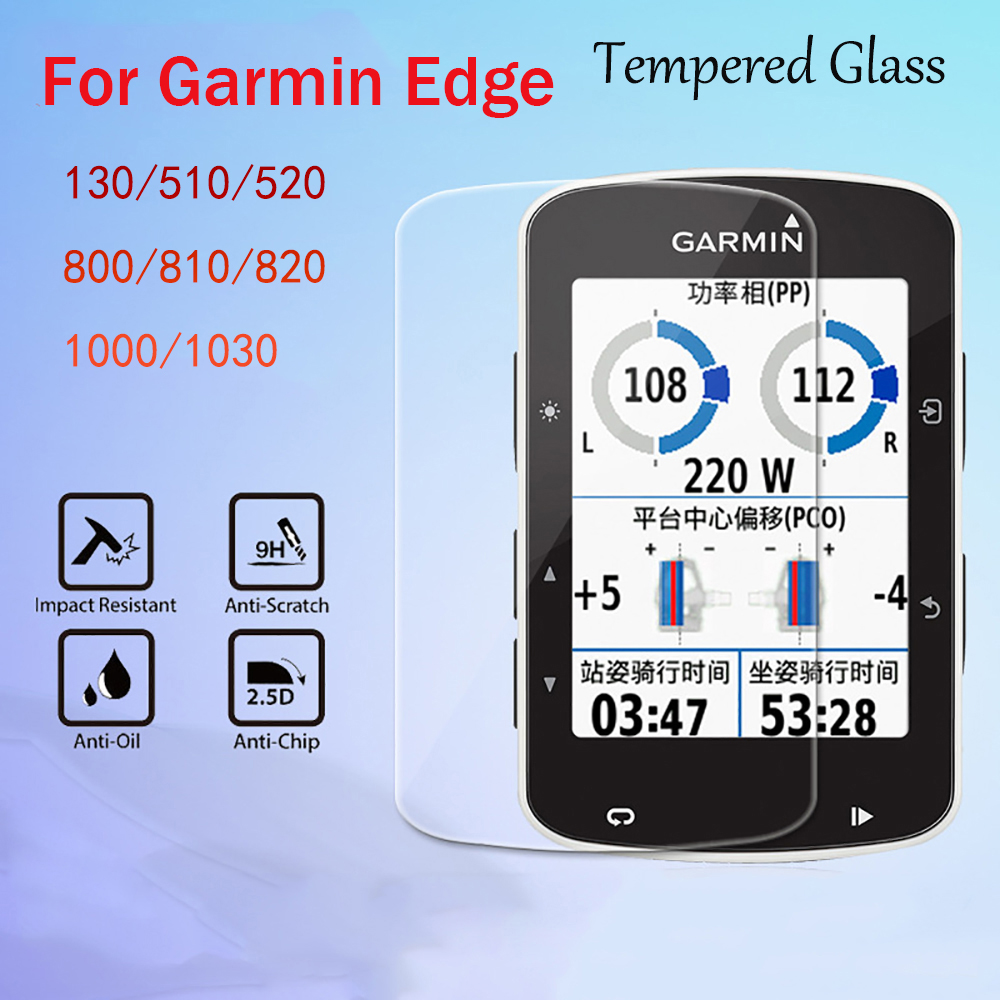5 Pcs/Lot Tempered Glass Screen Protector Film For Garmin Edge 130/510/520/800/810/820/1000/1030Protective Film Explosion Proof