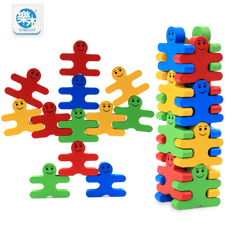 Logwood Wooden Baby Toy Balance Game Building Blocks Early Education Table Game Toys for children play with friend