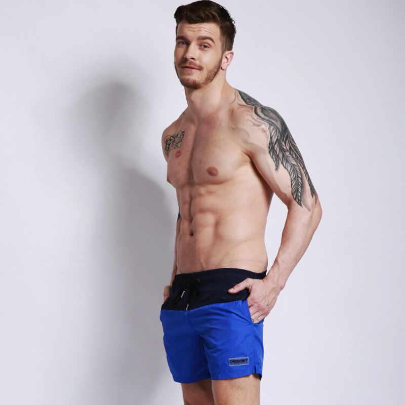 2019 Новый быстросохнущая мужские шорты для плавания Лето Для мужчин бордшорты Surf купальный костюм пляжные шорты для спортивных спортивные шорты для бега 2XL