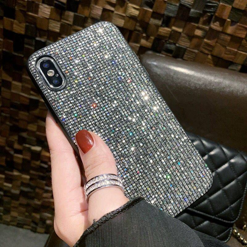 YOACHEY <font><b>Glitter</b></font> <font><b>Case</b></font> for <font><b>iPhone</b></font> X 7 8 6 S 6S Plus Luxury Bling Sequins Diamond <font><b>Phone</b></font> <font><b>Case</b></font> for <font><b>iPhone</b></font> <font><b>XR</b></font> XS Max Girl Cover Fundas image
