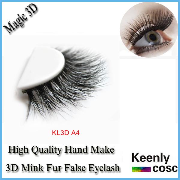 Transporte o mais rápido! 3D mink faixa de cílios 100% mink cabelo cílios, Cílios oem