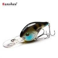 Banshee 75mm 24g Fishing Lure pływające Wobbler Fishing Deep Crankbait Cranks grzechotka sztuczna przynęta Hard Wobbler do trollingu