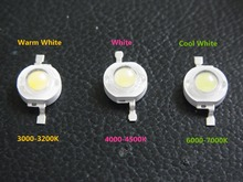 Freeshipping 35MIL 1W 100LM to 130LM High Power LED Light Beads 1LA5 300-350mA Source CE RoHS Ultra bright Diode 10Pcs