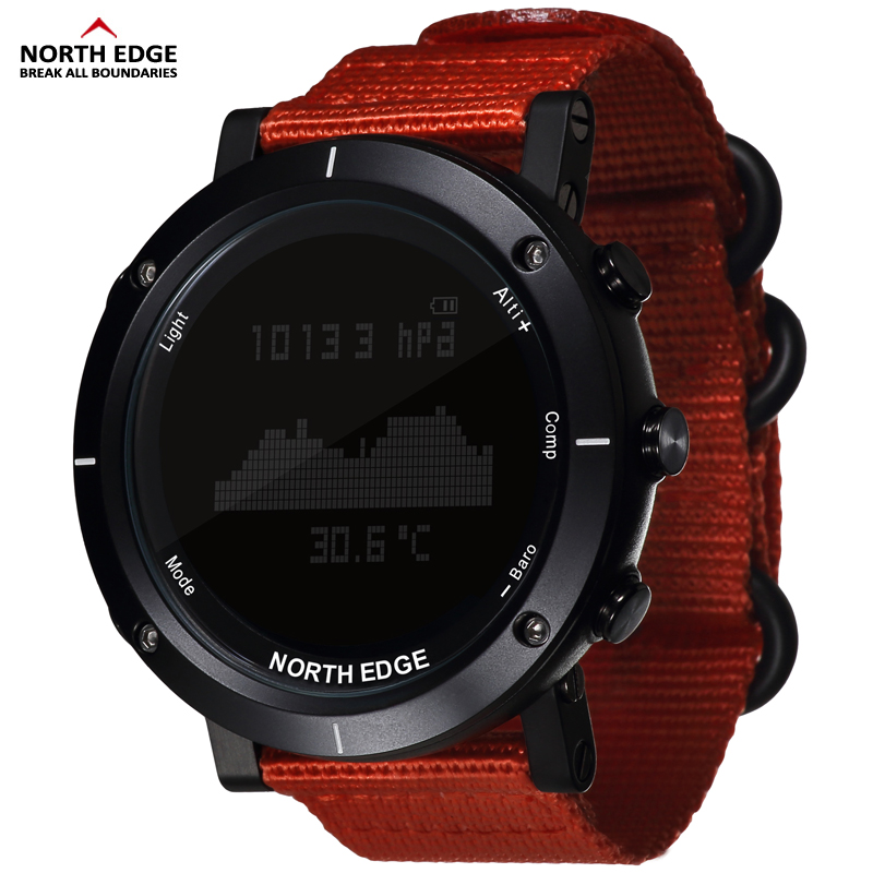 Smart watches Men outdoor sports watch waterproof 50m fishing Altimeter Barometer Thermometer Compass Altitude  hours NORTH EDGE(China)