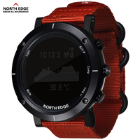 Smart watches Men outdoor sports watch waterproof 50m fishing Altimeter Barometer Thermometer Compass Altitude hours NORTH EDGE