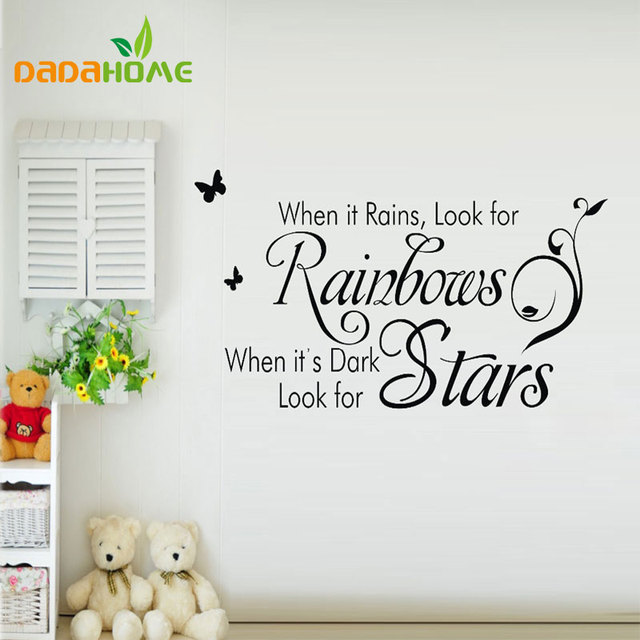 Wall sticker quotes free shipping stars english quote saying vinyl wall art decal window