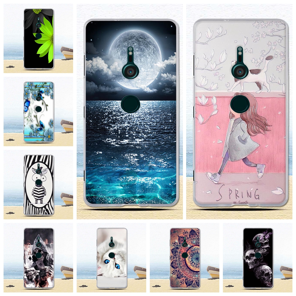 3D Painted Flower Phone <font><b>Cases</b></font> For <font><b>Sony</b></font> <font><b>Xperia</b></font> <font><b>XZ3</b></font> <font><b>Case</b></font> <font><b>Soft</b></font> <font><b>TPU</b></font> Silicone Back Cover For <font><b>Sony</b></font> <font><b>Xperia</b></font> <font><b>XZ3</b></font> Dual Funda Coque Bags image