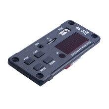 أحدث سماعة لاسلكية تعمل بالبلوتوث MP3 WMA فك مجلس وحدة صوت دعم USB TF AUX FM الصوت راديو وحدة ل اكسسوارات السيارات