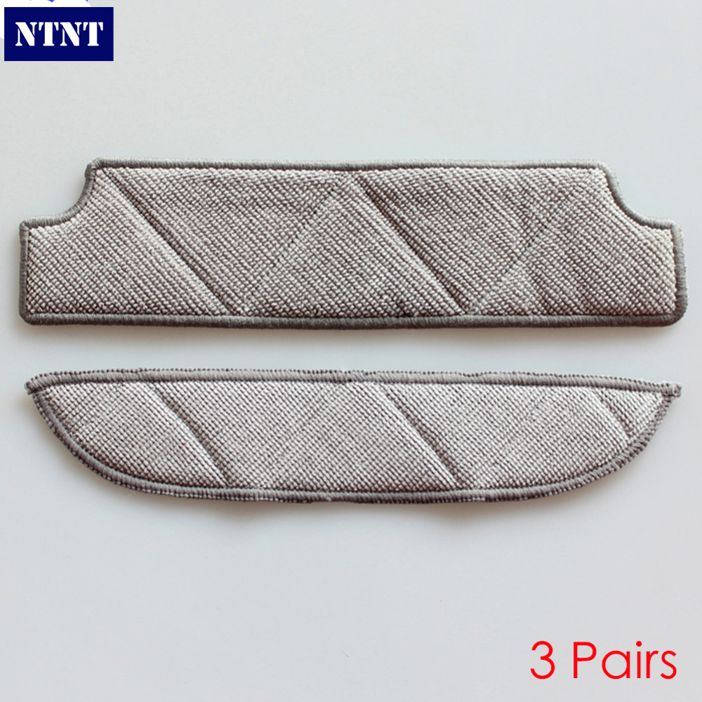 NTNT 3Pairs Mopping Cleaning cloth Dishcloth dishrag For Ecovacs Winbot W710 W730 TBW60TG TBW61 WRN60 WRN70 Replacement Parts