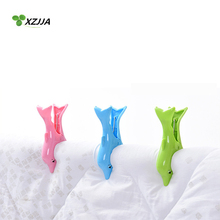 2PCS Thicken Stronging Cute Dolphin Clips Beach Towel Clamp To prevent the wind Clamp Clothes Pegs Drying Racks Retaining Clip