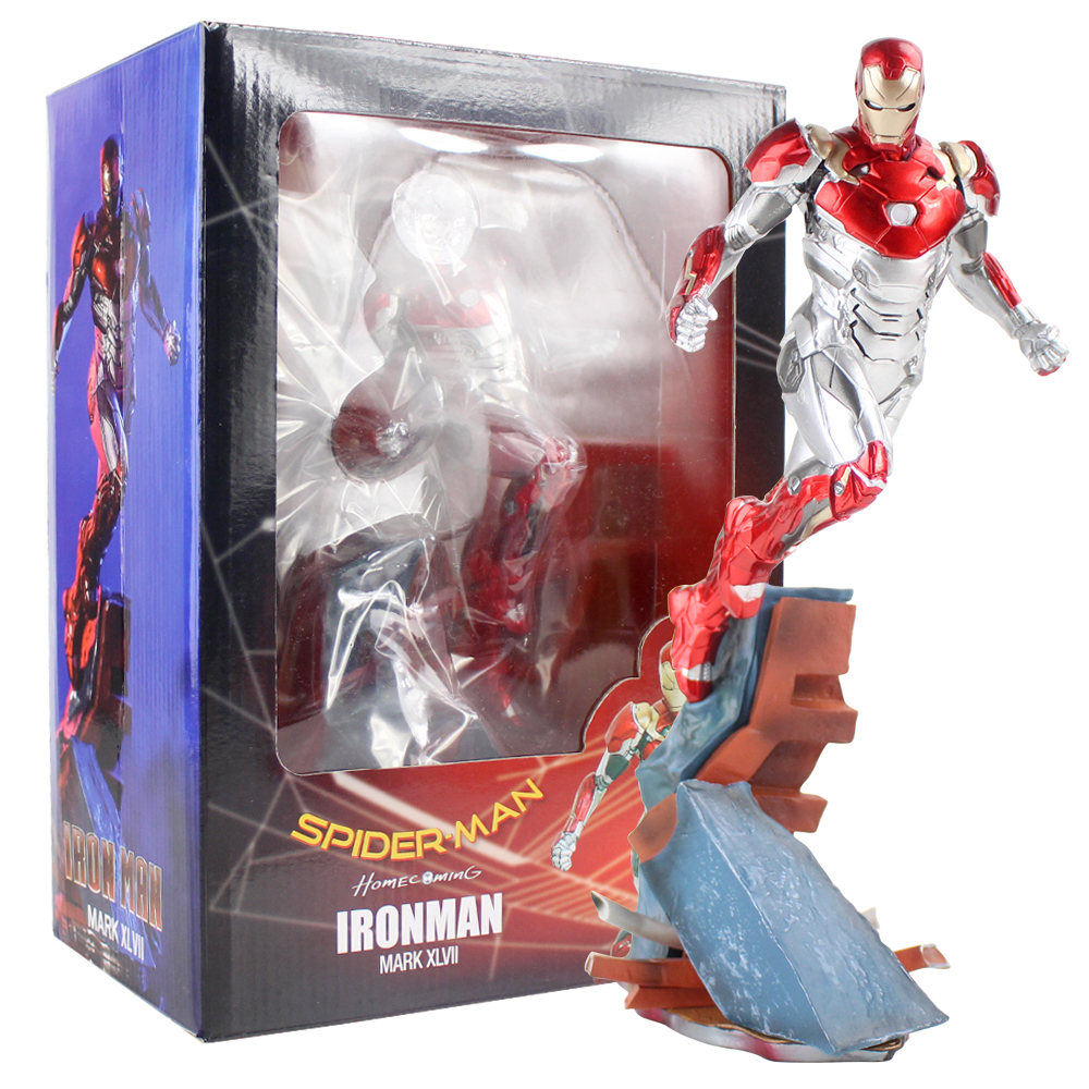 Marvel Avengers Iron Studios Spider Man Homecoming Iron Man Mark XLVII MK 47 1/10 Scale PVC Figure Collectible Model ToyMarvel Avengers Iron Studios Spider Man Homecoming Iron Man Mark XLVII MK 47 1/10 Scale PVC Figure Collectible Model Toy