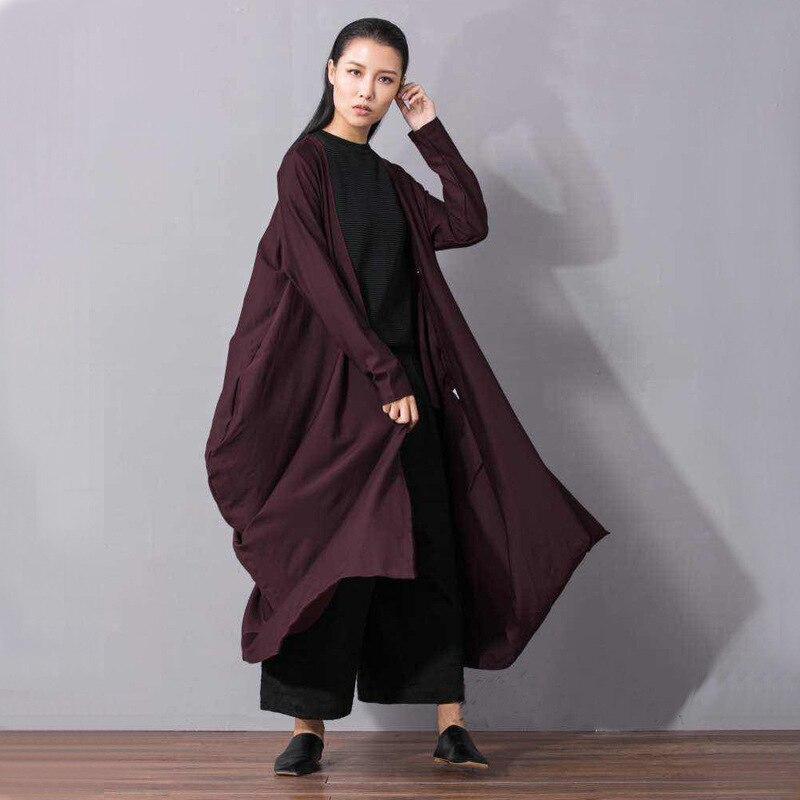 violet 2019 Haute Irrégulière Black Lâche Printemps Grande Longue Ouvert Asymétrique Qualité eam Nouvelles Taille Lc063 Longueur Mode Femmes De Stith Manteau ES4wRw