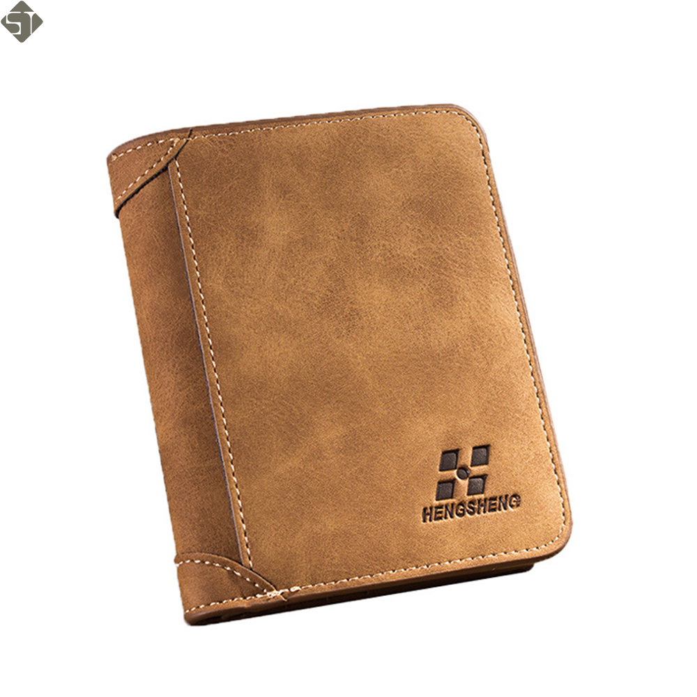 Brand Wallet Men Genuine Leather Men Wallets Purse Short Male Clutch Leather Wallet Mens Money Bag Card Holder Quality Guarantee