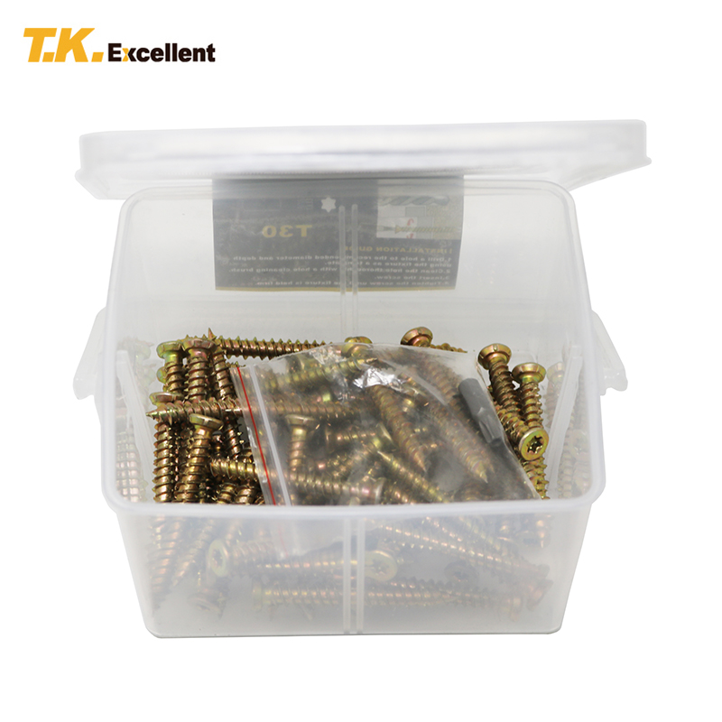 цена на T.K.EXCELLENT 51pcs/set M7.5x60mm Hex Socket Flat Countersunk Masonry Screw Concrete Screw Kit For Wall Concrete Solid Drywall