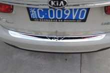 Auto rear bumper protector trim exterior  For KIA   k3    2015, stainless steel,auto accessories