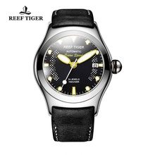 Reef Tiger/RT Sport Watches for Men Steel Big Skeleton Dial Watches