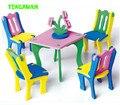 Happyxuan 6 packs/lot 2016 recién llegado de hecho a mano 3d eva muebles rompecabezas juguetes diy craft kids educativos para las niñas 3-6years