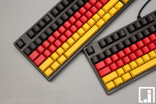 Multi color german flag deutschen classic color mechanical keyboard thick PBT keycap cherry mx OEM side print 104 keycaps