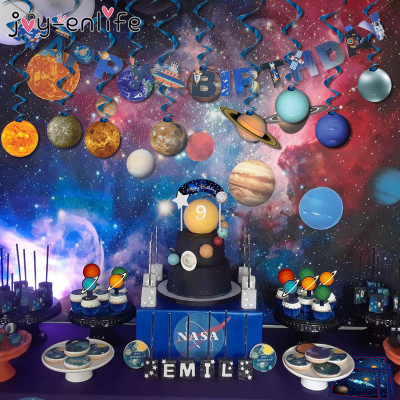 Solar System Star Party Decoration Universe Galaxy Outer Space Theme Balloon Kids Birthday Party Supplies Planet Decoration