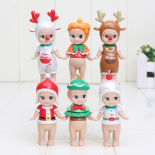 6pcs/set Anime Sonny Angel Kewpie Doll 8cm PVC Figure Cute Figurine Sonny Angel Toys For Kids Christmas Gifts