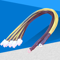 10 pcs 6Pin Sever Power Supply Cable PCI E PCIe Express For Antminer S9 S9j L3+ Z9 D3 Bitmain Miner PSU Power Cable