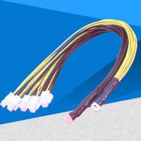 10 sztuk 6Pin Sever moc kabel zasilający PCI-E Express do Antminer S9 S9j L3 + Z9 D3 Bitmain Miner zasilacz kabel zasilający