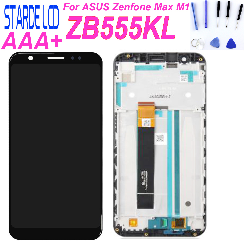 Starde 5.5'' For ASUS Zenfone Max M1 ZB555KL LCD Display Panel Touch Screen Digitizer Glass Sensor Assembly with Frame Parts