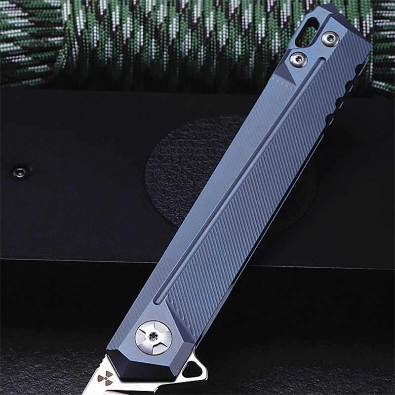 2018 جديد شحن مجاني S35VN الصلب في الهواء الطلق بقاء التخييم الثابتة سكين للفرد سبائك التيتانيوم التكتيكية الصيد السكاكين EDC أدوات