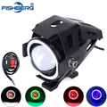 Motorcycle LED Headlight CREE led chip U7 125W 3000LM White 6000K Fog DRL Daytime Running Light Spotlight Mortorcycle Led Lamp