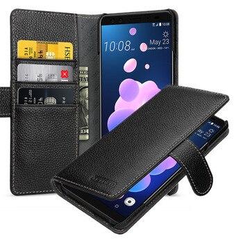 Luxury Wallet Case for HTC U12+ 100% Genuine Leather Phone Cover for Fundas HTC U12plus Handmade Custom Card Holder U12 Plus New