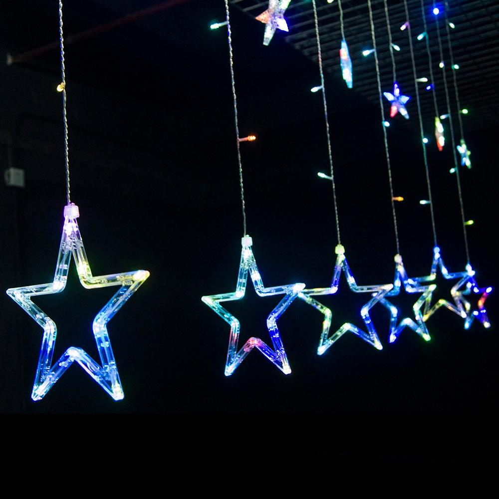 Led Christmas Lights 110v 220v Plug Fairy Lights Star