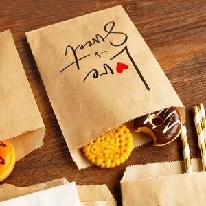 Image 2 - 25 adet teşekkür ederim Kraft kağıt torba renkli Polka nokta çizgili Chevron kağıt hediye çantası düğün şeker torbaları doğum günü hediyesi ambalaj