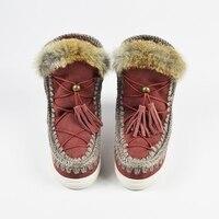 2018 женские зимние ботинки из овечьей кожи на меху Integrated MOU Eskimo Sneaker Botas женская обувь с кисточками на скрытой танкетке 2,5 см