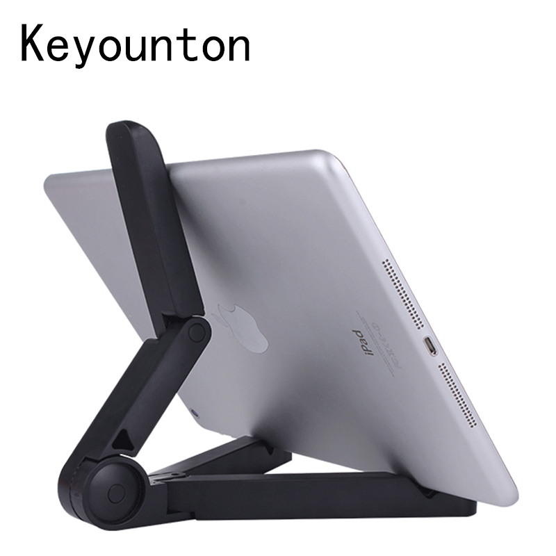 Foldable Tablet Holder Desktop Bracket Mount Adjustable Big Phone Holder Stand For IPad Mini 4 PC Tablet Mobile Phone 4-10 Inch