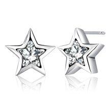 c384ab020 New Design Pentagram Shape Stud Earrings for Women Silver Color Pandora  Earrings Jewelry Fashion Blossom Boucle D'oreille Femme