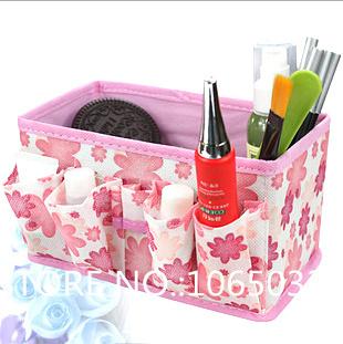 Dobrável maquiagem organizador caixa de cosméticos caixa de armazenamento de contentores