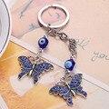 Blue Evil Eye Keychain Rhinestone Crystal Charm Pendant Purse Bag Keyring Gift