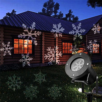 LED Outdoor Projector Christmas Halloween Wedding Party theme pattern 12 Different Slides Waterproof projection EU US UK Plug