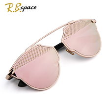 2017 New explosion models high-quality Sunglasses woman luxury brand designer cat's eye Sunglasses woman metal mate Glasses man