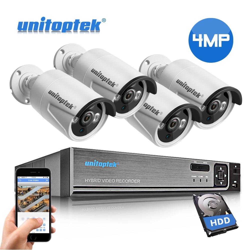 4CH 4MP CCTV System H 265 POE IP Camera NVR Kit Waterproof Outdoor Security Camera Plug
