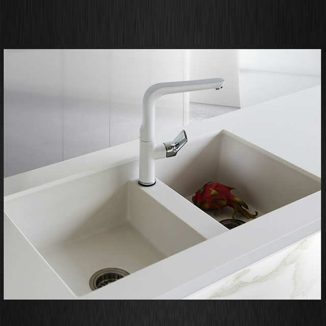 Stone Kitchen Sink Appliances Packages Online Shop 760 460 200mm Quartz Sinks Double Bowl Granite Basin White Pearl