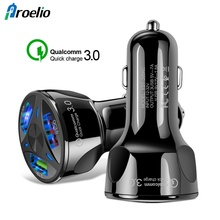 Proelio Quick Charge 3.0 LED USB Car Charger For Xiaomi Samsung S10 iPhone Portable Fast Phone In The