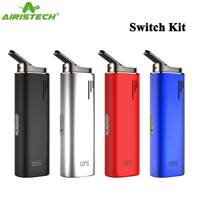 Original Airistech Switch Starter Kit 2200mAh Battery 3 in 1 Dry Herb Vaporizer Concentrate Wax Thick