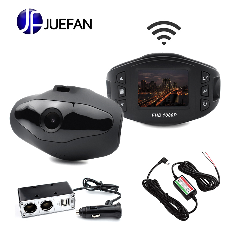 HOT JUEFAN Y1 Dash Cam Novatek 96658 Car DVR Full HD 1080P WIFI car camera 140 Wide Angle Vehicle car camera USB car charger стоимость