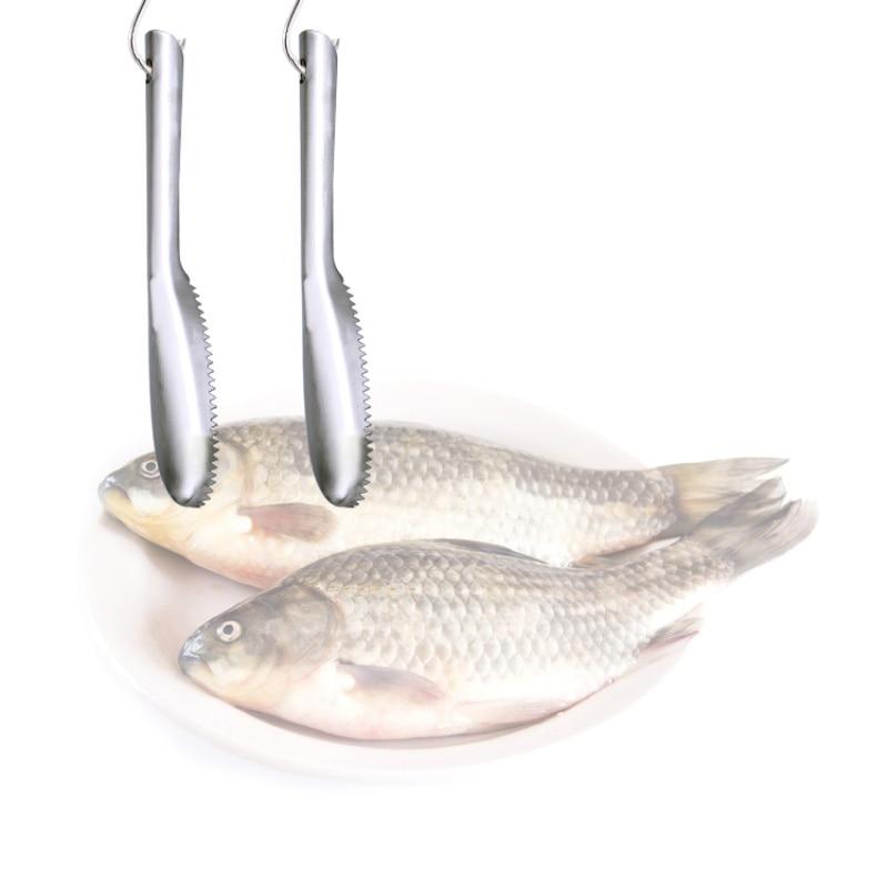 Image 4 - Échelle de poisson raboteuses en acier inoxydable grattoir écailles de poisson brosse outils de pêche en plein air TX005De Pêche Outils   -